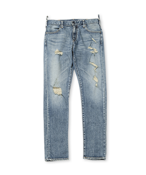 CLASHED DENIM PANTS