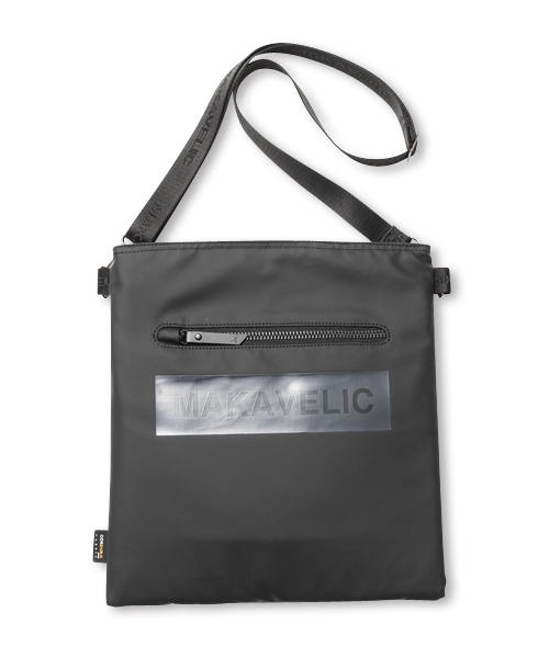 BOX-LOGO SHOULDER BAG