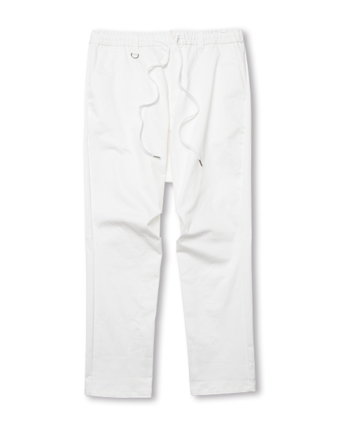 【SALE】DROP CROTCH GABBA PANTS WHITE