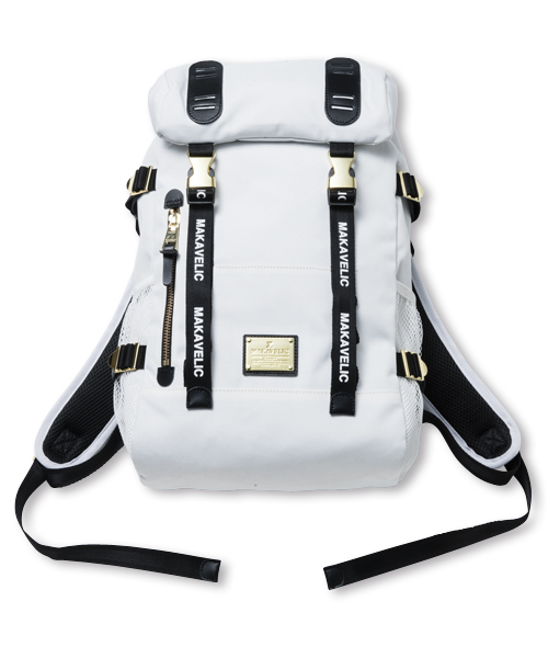 DOUBLE BELT DAYPACK ZONE MIX WHITE EDITION